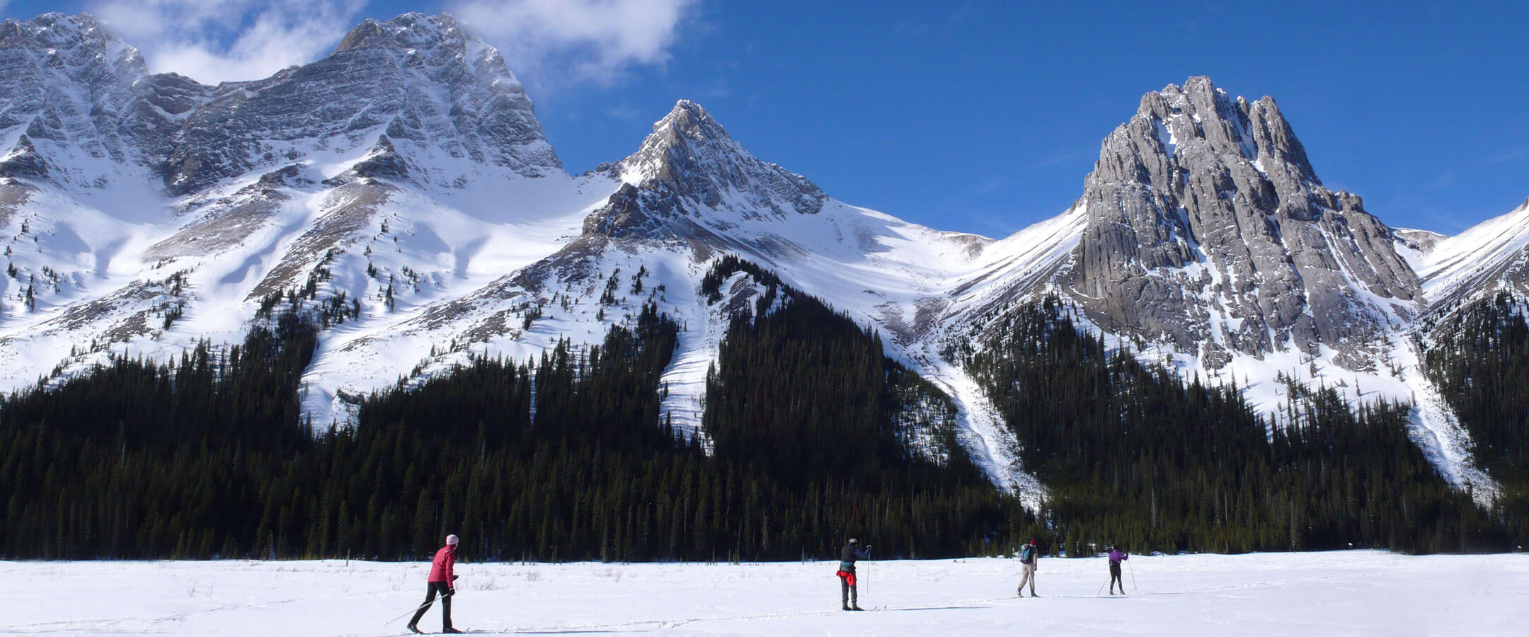 Winter Ski Mountain in Alberta